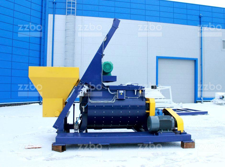Двухвальный бетоносмеситель БП-2Г-1200с - фото 1