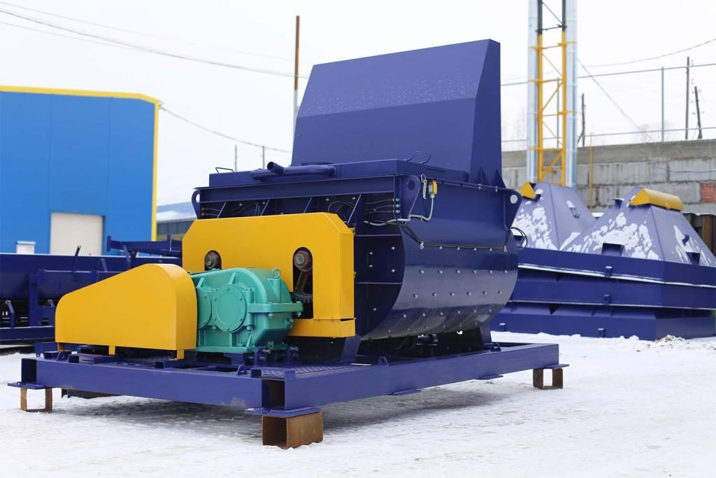 Двухвальный бетоносмеситель БП-2Г-1200