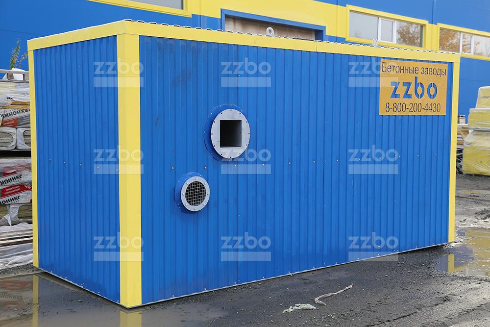 Дизельный теплогенератор ТГВ-250 в блок-контейнере - фото 1