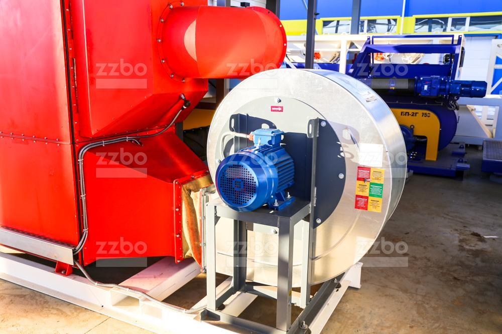 Газовый теплогенератор ТГВ-450 на раме - фото 3