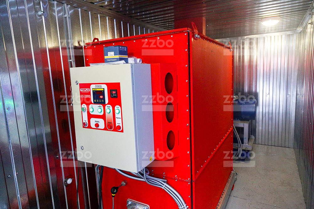 Газовый теплогенератор ТГВ-450 </br> в блок-контейнере