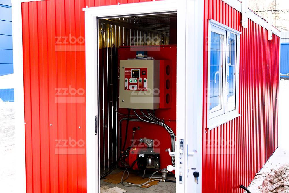 Газовый теплогенератор ТГВ-450 </br> в блок-контейнере - фото 1