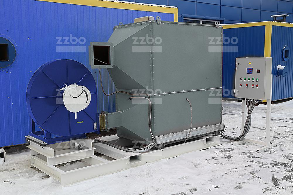Газовый теплогенератор ТГВ-250 на раме - фото 3