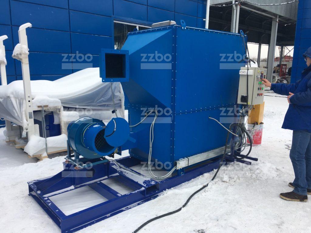 Газовый теплогенератор ТГВ-250 на раме - фото 11