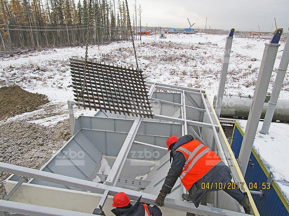 Решетка на секцию бункера 100х100 для ДКС-16 (ДКС-24) - фото 1