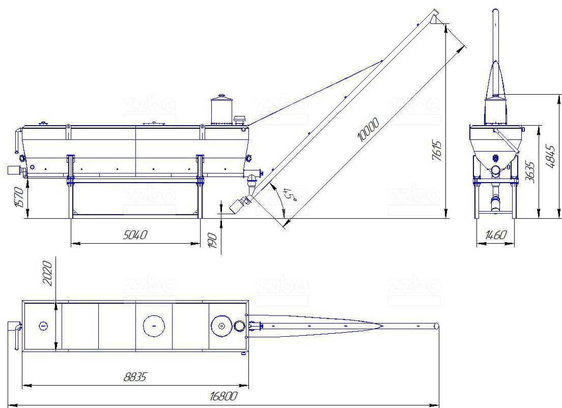 Схема мобильного силоса цемента
