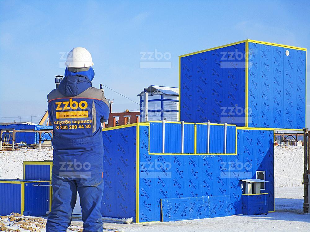 Бетонные заводы ZZBO всесезонного исполнения модели ФЛАГМАН и типовые РБУ – зимой почувствуете разницу!