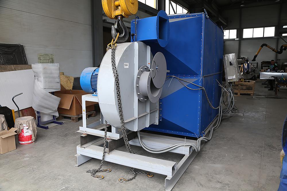 Газовый теплогенератор ТГВ-600 на раме - фото 9
