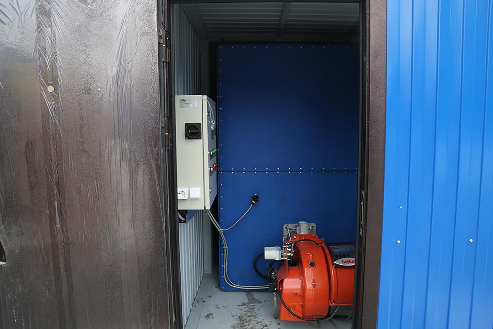Газовый теплогенератор ТГВ-600 на раме - фото 1