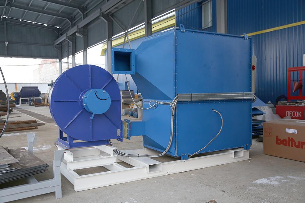 Газовый теплогенератор ТГВ-600 на раме - фото 6