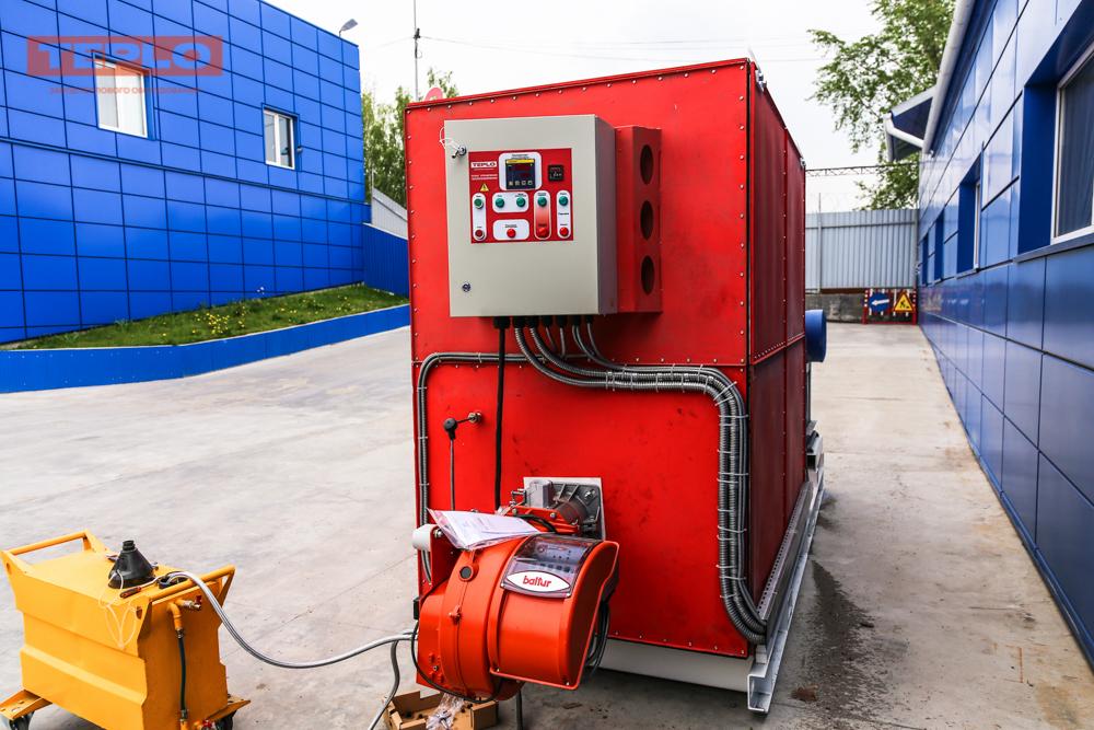Газовый теплогенератор ТГВ-600 на раме - фото 16