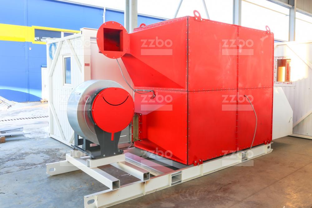 Дизельный теплогенератор ТГВ-800 </br>  в блок-контейнере - фото 7