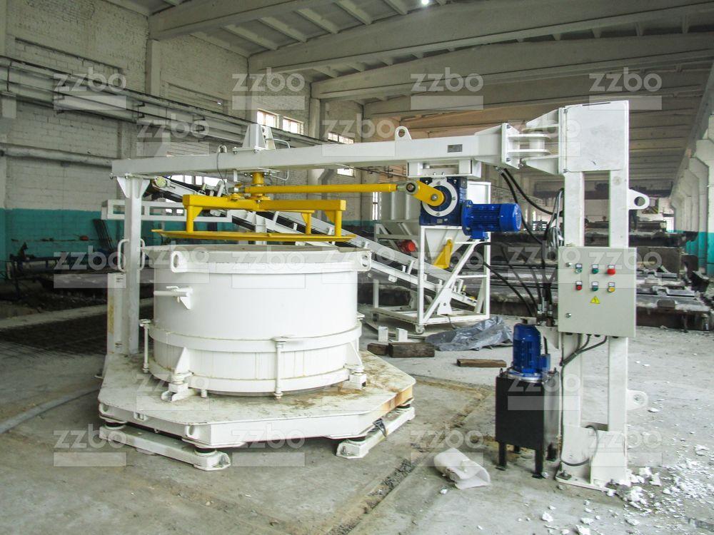 Вибропресс КС20 с бетоноукладчиком