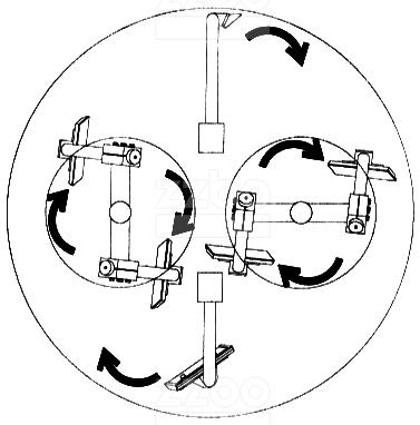 Схема замеса бетонной смеси у планетарного бетоносмесителя 1500 литров