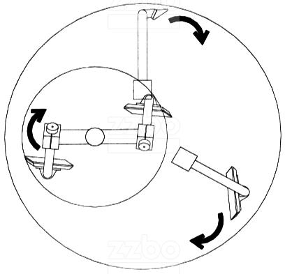 Принцип перемешивания у планетарных бетоносмесителей БПП-3В-750