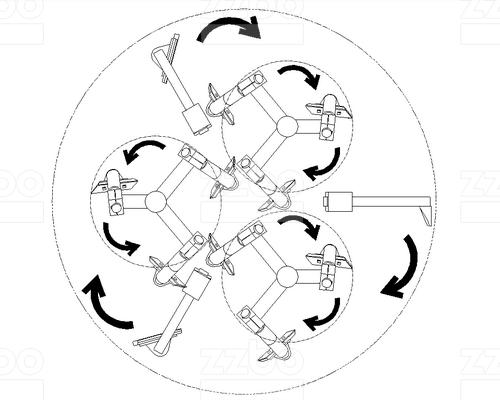 Бетоносмеситель планетарный <br> противоточный БПП-3В-3000