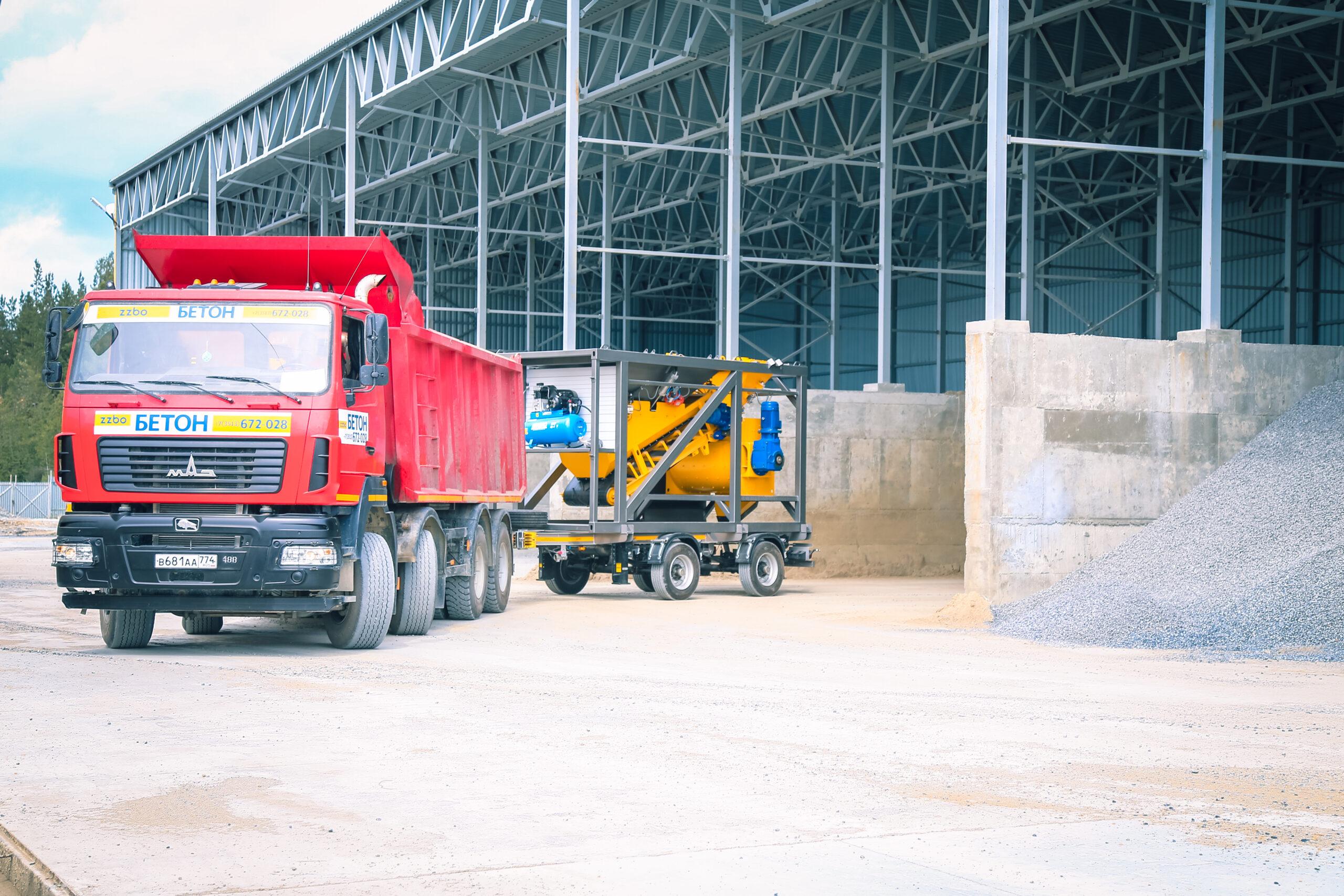 Купил мобильный бетонный завод MCP-20 и сдал его в аренду – профит бетонного бизнеса!